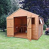 Mercia Premium Shiplap Wooden Shed Workshop, 10x10ft