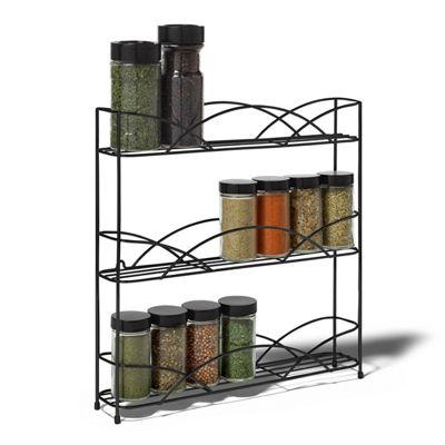 3 Tier Free Standing Spice Herb Rack Holder Kitchen Jar Organiser Wall Storage
