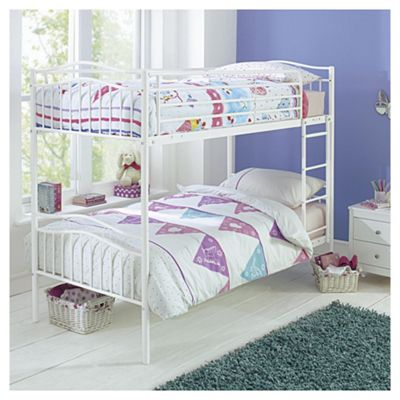 Paige Metal Bunk Bed, White