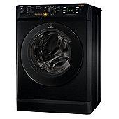Indesit Innex XWDE 861480X K UK, 8kg Load, Washer Dryer - Black
