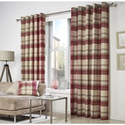 Buy Curtina Belvedere Lined Red Curtains - 90x90 Inches from our ...