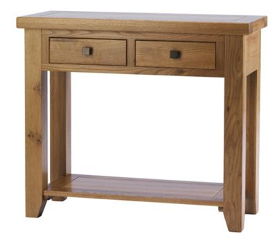 Thorndon Taunton Console Table in Medium Oak