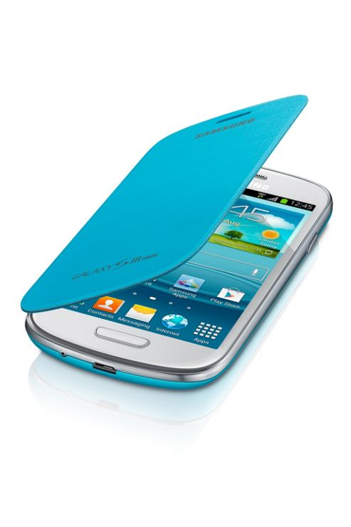 Samsung Original Leather Flip Case for Galaxy S3 Mini - Light Blue