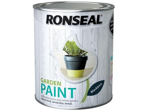 Ronseal RSLGPBLKB250 250 ml Garden Paint - Black Bird