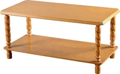 Home Essence Jersey Coffee Table in Antique Pine Finish