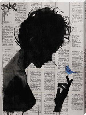 Loui Jover Poetica Large Canvas Print 60x80cm