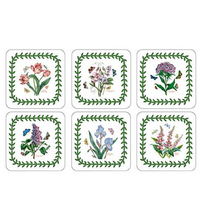 Pimpernel Botanic Garden Coasters, Set of 6, New Designs