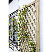 Elite Square Wooden Lattice Trellis, 4 pack, 30cm