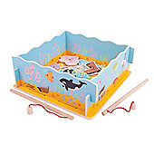 Bigjigs Toys Magnetic Fishing Game with Base