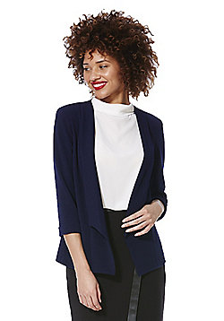 Roman Originals Textured Open Front Jacket - Navy