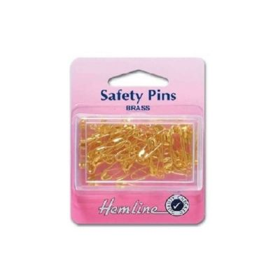 Hemline Brass Safety Pins 23mm