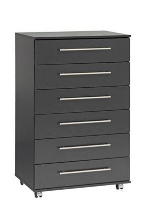 Ideal Furniture Bobby 6 Drawer Chest - Black