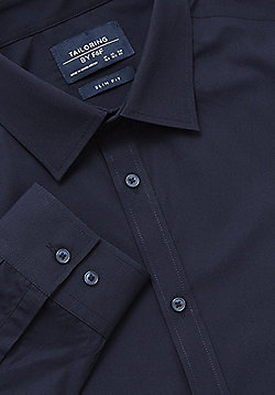 F&F Easy Care Slim Fit Shirt - Navy