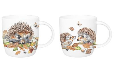 Roy Kirkham Sophie Mug Set of 2 Hedgehog