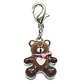 Teddy Bear Clip on Charm