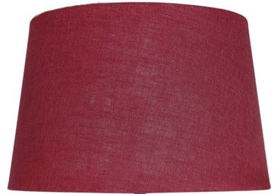 Red 17 Inch Linen Empire Shade (Dual Fitting)