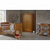 OBaby Winnie the Pooh Double 3pc Room Set (Country Pine)
