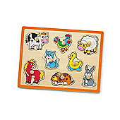 Flat Puzzle-Farm Animals