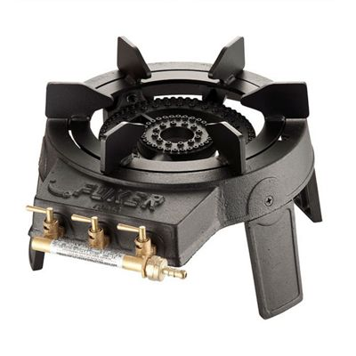 Foker Outdoor Cast Iron Gas Wok Burner with 3 Valves for Independent Control