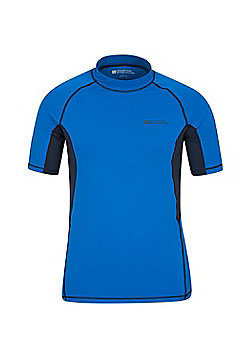 Mens Rash UV Protection Vest Swimming Diving Surfing Top - Electric blue