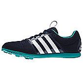adidas Allroundstar Kids Running Spike Trainer Shoe Navy Blue - Blue