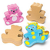 Teddy Bear Craft Boxes for Children to Paint Decorate & Display - Creative Craft Set for Kids (Pack of 4)