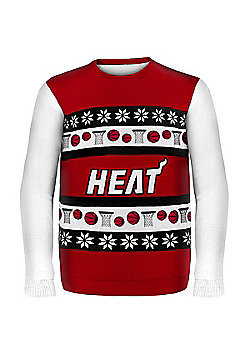 NBA Basketball Miami Heat One Too Many Ugly Sweater - Red & White