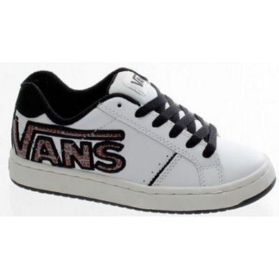 Vans Widow (Double V) White/Black Kids Shoe DE237K