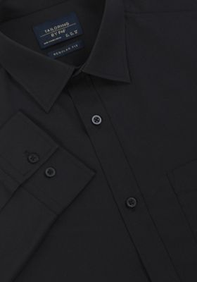 F&F Regular Fit Long Sleeve Shirt Black 16