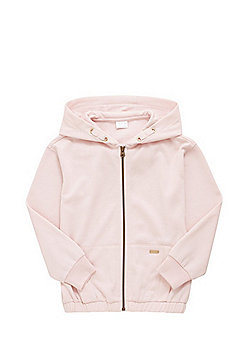 F&F Elasticated Hem Zip-Through Hoodie - Blush pink