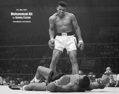 Muhammad Ali Vs Sonny Liston History in the Making Mini Poster