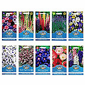 Mr Fothergill's Seeds - Cottage Garden Favourites Flower Collection - 10pc Multipack