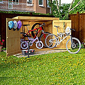 BillyOh Mini Keeper Overlap Pent Bike Store Shed 6x3