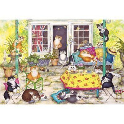 Summerhouse Cats - 250 Piece XL Puzzle