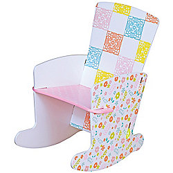 Country Cottage patterned kids rocking chair