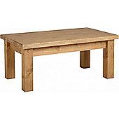 TNW Leon Coffee Table - Distressed Waxed Pine