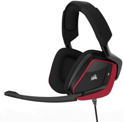 Corsair VOID PRO Surround Premium Gaming Headset with Dolby Headphone 7.1 - Red