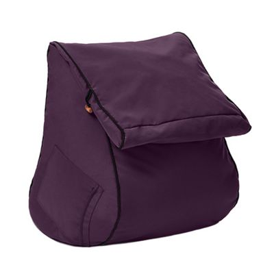 Purple 'Kai' Water Resistant Outdoor Bean Bag Wedge Lounger Seat