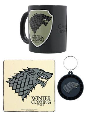 Game of Thrones Stark Mug Coaster And Keyring Set