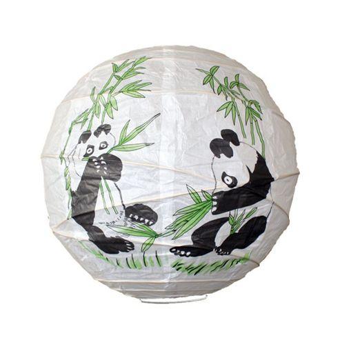 Loxton Lighting Panda Irregular Bamboo Paper Lantern
