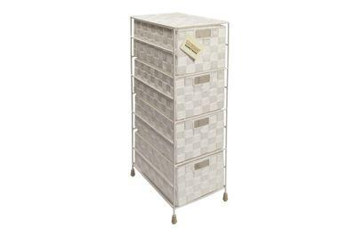 EHC 4 Drawer Medium Storage Cabinet, White