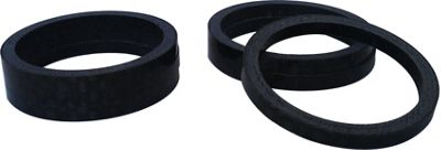 Acor 1.1/8inch Carbon Spacers: 5mm. Bag Of 25, Gloss Carbon