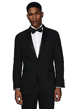 F&F Regular Fit Tuxedo Jacket - Black
