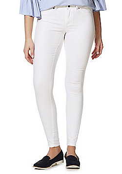 JDY Five-Pocket Skinny Jeans - White