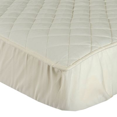 Homescapes Organic 300 TC Luxury Quilted Deep Fitted King Size Mattress Protector
