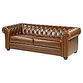 Mortimer Chesterfield Large 3-Seat Leather Sofa, Tan