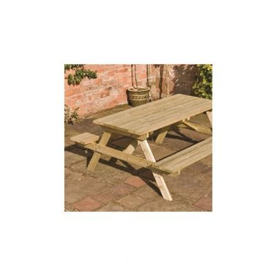 4Ft Wooden Picnic Bench