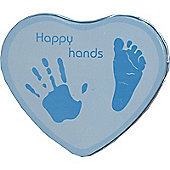 Happy Hands plaster cast momento - Blue for a Baby Boy