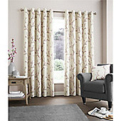 Fusion Hemsworth Duck Egg Curtains - Raspberry