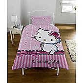 Charmmy Kitty Panel Single Bed Duvet Quilt Cover Set